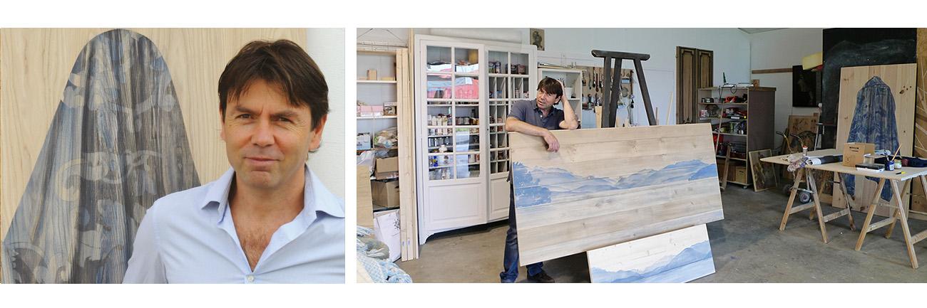 Atelier et portrait de gilles Giacomotti artiste